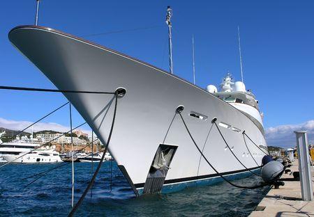 yachts: Luxury yacht Stock Photo