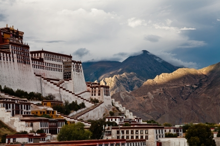 potala: Sunset of Potala Palace in Lhasa, Tibet, China