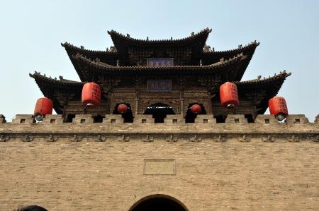 chinese wall: Courtyard of Family Chang, civil house, Pingyao, Shanxi, China  Editorial