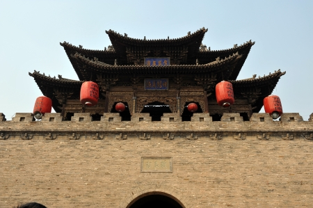 chinese courtyard: Courtyard of Family Chang, civil house, Pingyao, Shanxi, China  Editorial