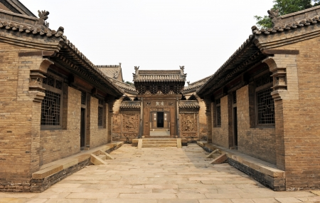 Courtyard of Family Chang, civil house, Pingyao, Shanxi, China