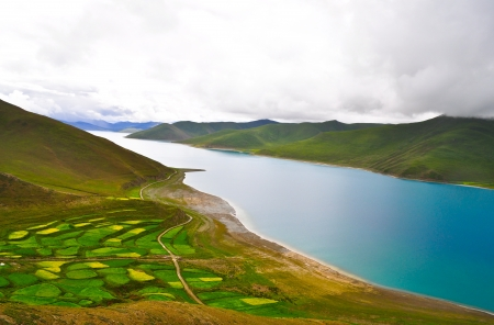Yamdrok Lago del Tibet, Cina photo