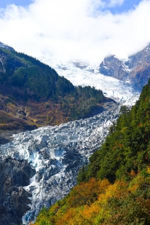 The MingYong glacier, Tibet, China