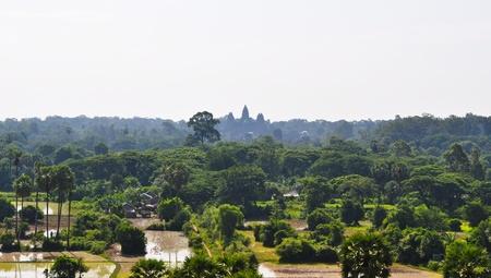 bird 's eye view: Aerial view of Angkor, WatSiem Reap,  Cambodia Stock Photo
