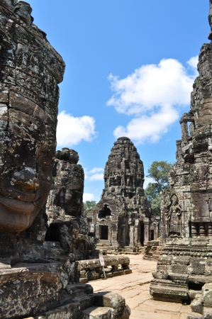 Four Face Buddha in  Bayon temple, Siem Reap, Cambodia photo