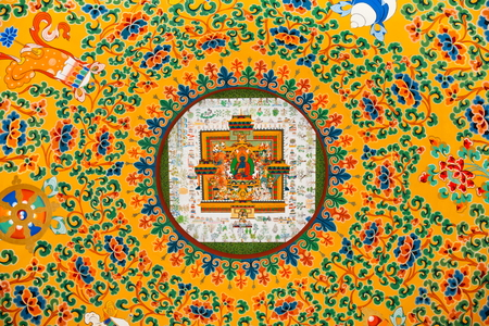 Tibetan religious themes ceiling photo