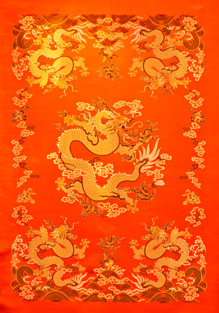a fragment of Chinese textiles with Chinese dragon