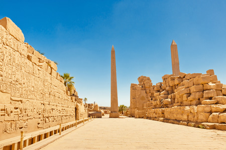 african worship: Karnak Temple Complex in Luxor, Egypt Stock Photo