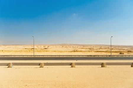 desert highway: Highway in the desert