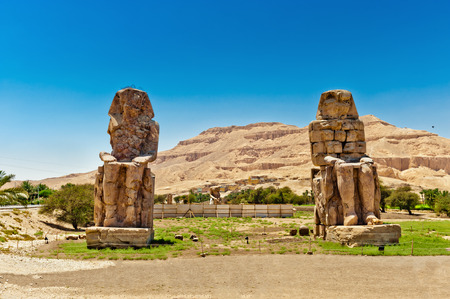 Colossi of Memnon, Valley of Kings, Luxor, Egypt photo