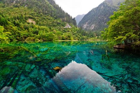 Five flower lake, jiuzhaigou, sichuan, china