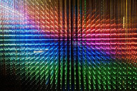 Colorful digital LED light photo