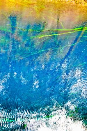 colorful lake reflection Imagens