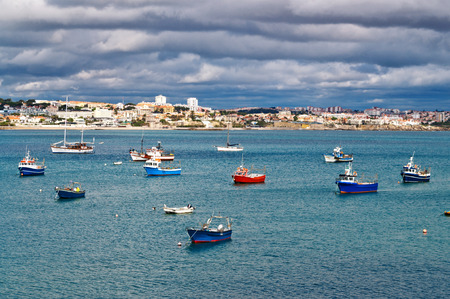 Old Pier with Boats at Portugal