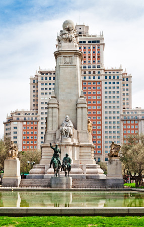 Madrid  Monument to Cervantes, Don Quixote and Sancho Panza  Spain photo
