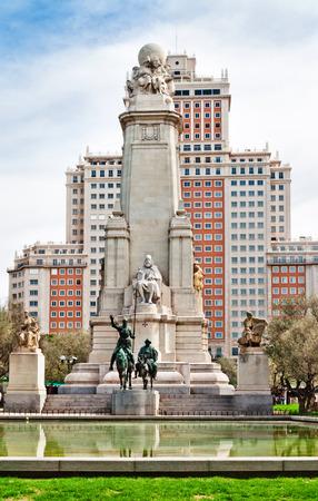 Madrid  Monument to Cervantes, Don Quixote and Sancho Panza  Spain