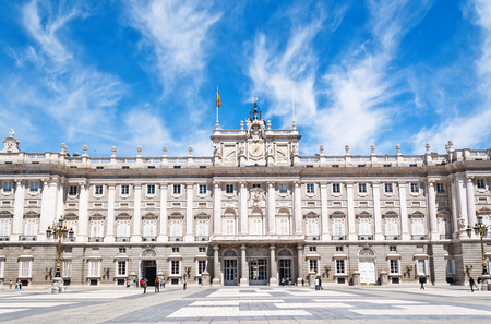real madrid: Palacio Real - Spanish Royal palace in Madrid  Editorial