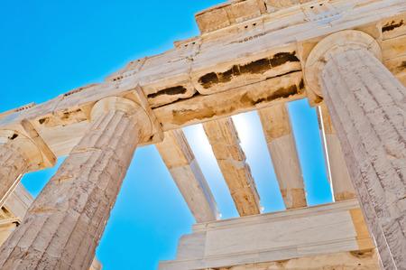 templo griego: Erecteion, templo griego antiguo en la Acrópolis de Atenas en Grecia