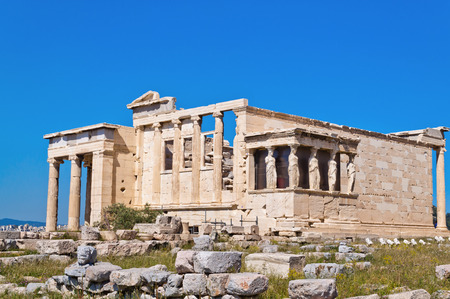 Erechtheion,ancient Greek temple on the Acropolis of Athens in Greece