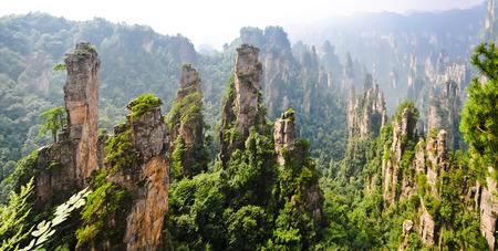 hunan: Zhangjiajie National Park in summer, Hunan province, China Stock Photo