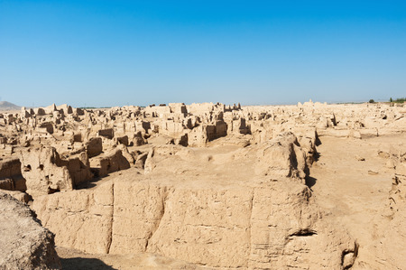 The Jiaohe Ruins is Chinese archaeological site found in the Yarnaz Valley, west of the Turpan in Xinjiang