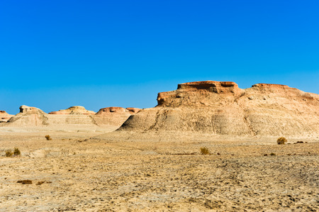 Yardang landforms-- Urho Ghost Castle in Karamay City, Xinjiang, China Imagens