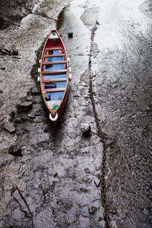 Boat, English Village, Totnes, Devon, UK