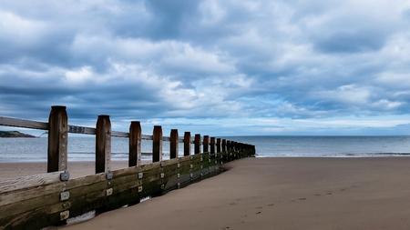 Beach, English Village, Dawlish Warren, Devon, UK