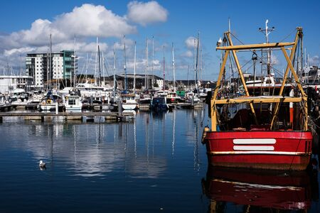 Sutton Harbor Marina - Plymouth, Devon, England Фото со стока - 125897254