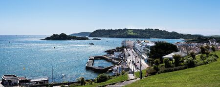 Panorama of Hoe Waterfronts - Plymouth, Devon, England