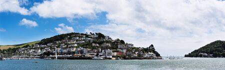 Panorama of Kingswear from Dartmouth, Devon, England, Europe Фото со стока