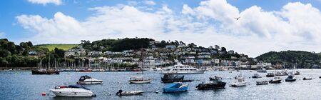 Panorama of Kingswear from Dartmouth, Devon, England, Europe Stock Photo