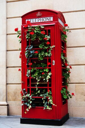 Idea for Red British Telephone Box. Photo taken in Bath, England, Europe