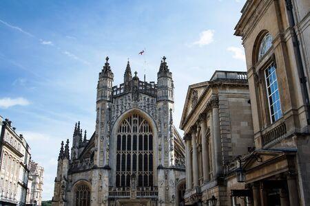 View for Bath Abbey in Bath, Somerset, England, Europe