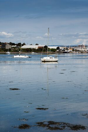 View of the river in Millbrook, Torpoint, England, Europe