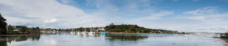 Panorama of the Millbrook, Torpoint, England Фото со стока