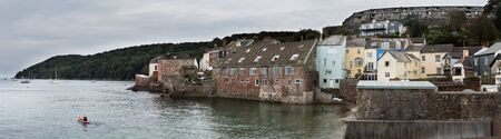 Panorama of the Kingsand, Torpoint, England, Europe Фото со стока