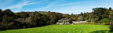 View of fields in English Village, Avon Dam Reservoir, South Brent, Dartmoor Park