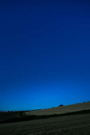 Big Dipper on night sky of Labrador Bay in Devon in England.