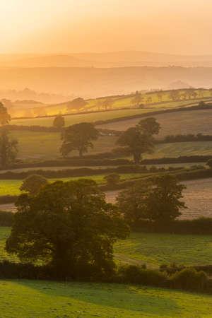 Sunset of the Fields - Berry Pomeroy Village in Devon in England in Europe