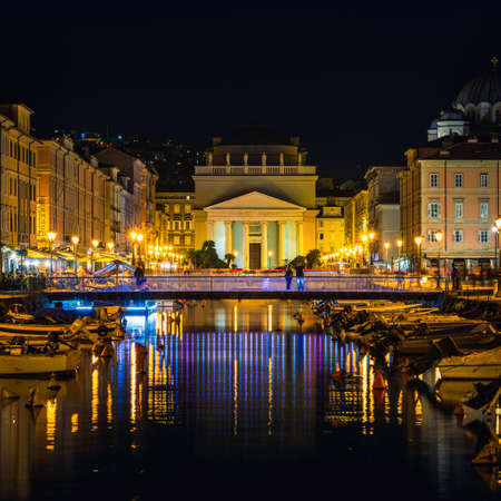 Church of Sant Antonio Nuovo over Canal Grande di Trieste in Trieste in Italy in Europe