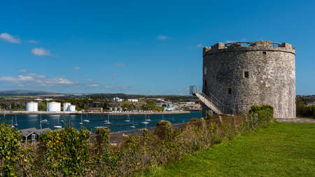View of Mount Batten Tower in Plymouth in Devon in England in Europe Banque d'images