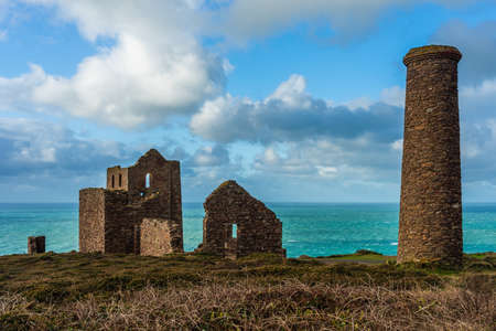 View of Wheal Coates, Chapel Porth Mine, St. Agnes, Cornwall, England