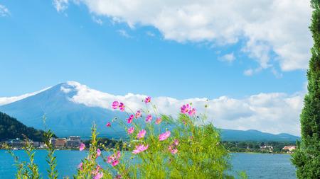 fuji mountain japan and bluesky