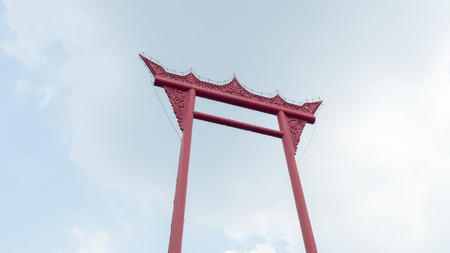 Giant Swing or Sao Ching Cha one of the most famous tourist destination and Landmark in Bangkok - Thailand