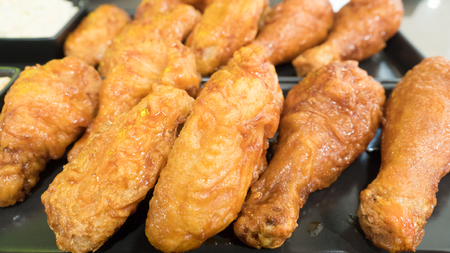 fried chicken Concatenation close up
