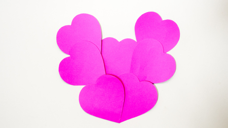 group paper heart Stock Photo