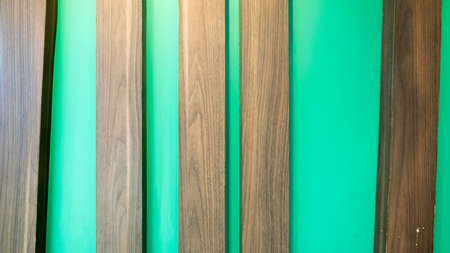 flooring: wood and green cement texture background
