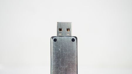 flash drive close up on white background