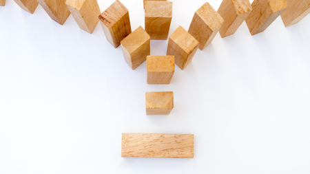 wooden block concept your Choice on whitebackground Stock Photo